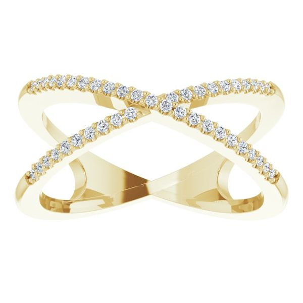Accented Criss-Cross Ring   Image 3 Diamonds Direct St. Petersburg, FL