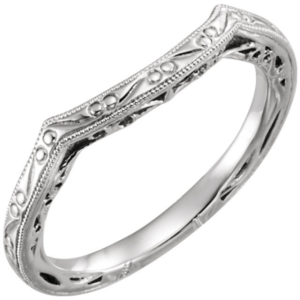 Design-Engraved Engagement Ring Matching Band Your Jewelry Box Altoona, PA