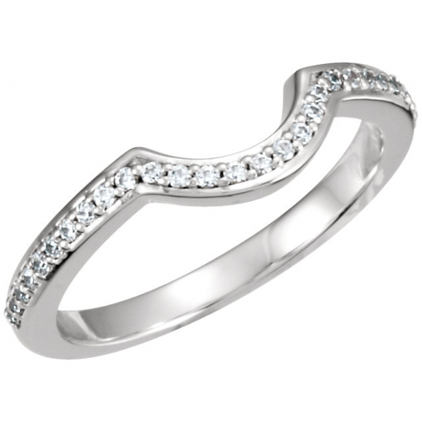 Halo-Style Engagement Ring Matching Band Franzetti Jewelers Austin, TX