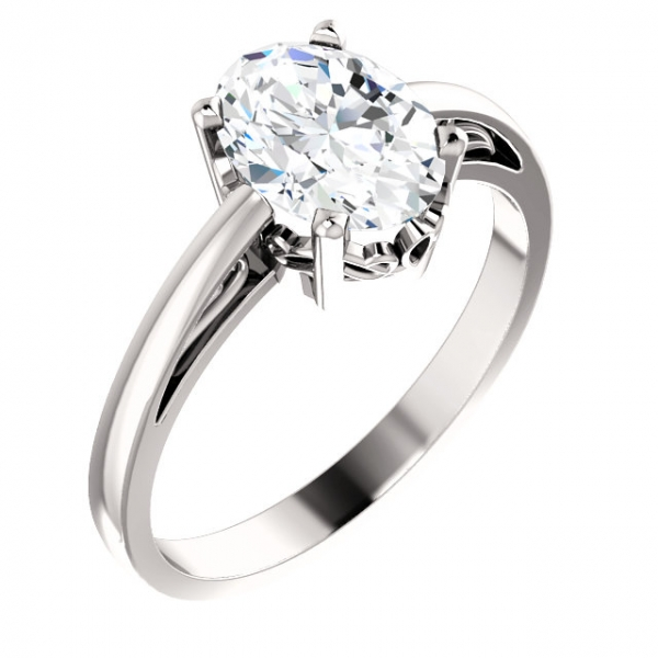 Solitaire Scroll Setting® Ring James Wolf Jewelers Mason, OH
