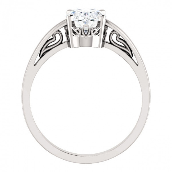 Solitaire Scroll Setting® Ring Image 2 James Wolf Jewelers Mason, OH