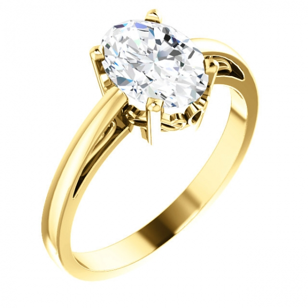 Solitaire Scroll Setting® Ring Diamondneed Inc New York City, NY