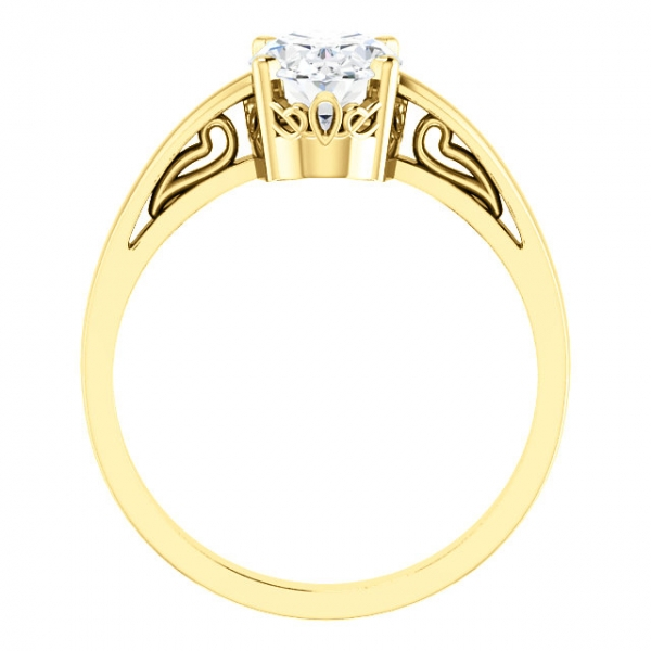 Solitaire Scroll Setting® Ring Image 2 Diamondneed Inc New York City, NY
