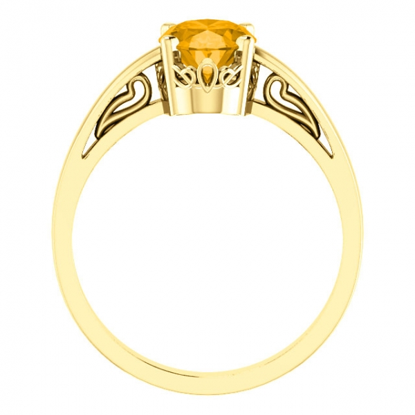 Solitaire Scroll Setting® Ring Image 2  ,