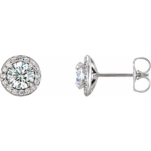 2170cad92 Stuller Halo-Style Earrings 86458:6013:P 14KW Monroeville | James ...