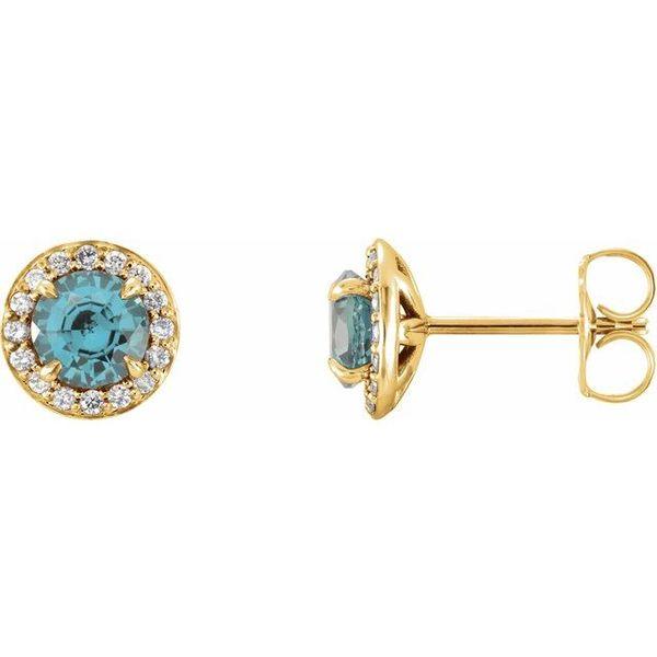 Genuine Aquamarine Earrings