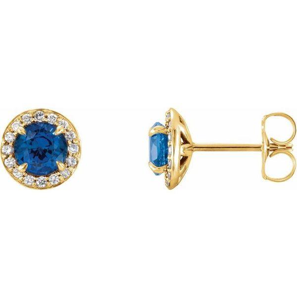 b3f719996 Stuller Halo-Style Earrings 86458:678:P 14KY Lewiston | The Diamond ...