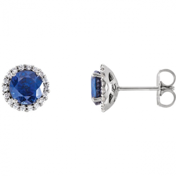 b6bc8a1f5 Stuller Halo-Style Earrings 86509:635:P PL Petaluma | Hollingsworth ...