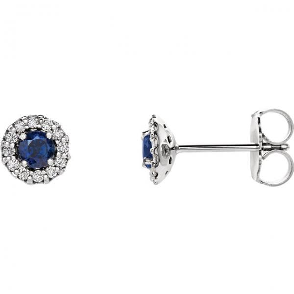 1de427100 Stuller Halo-Style Earrings 86509:643:P PL Iron Mountain | Erickson ...
