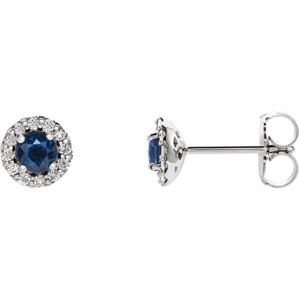 623bdb863 Stuller Halo-Style Earrings 86509:648:P 14KW Monroeville | James ...