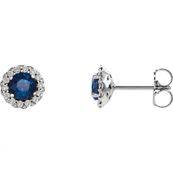 2bca53252 Stuller Halo-Style Earrings 86509:656:P 14KW Logansport | Arnold's ...