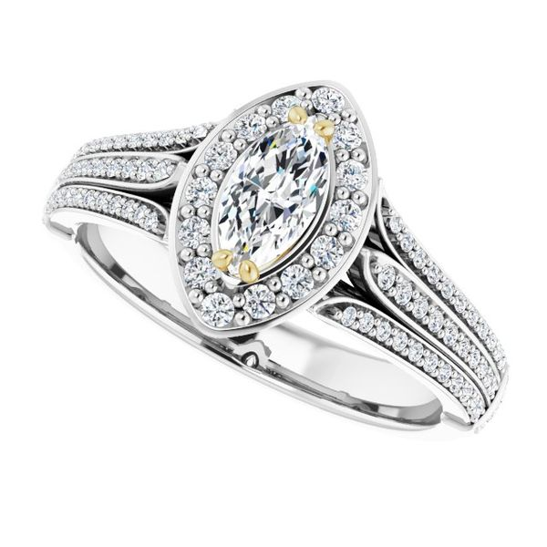 Halo-Style Engagement Ring Image 5 Swede's Jewelers East Windsor, CT