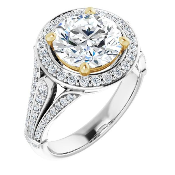 Halo-Style Engagement Ring Swede's Jewelers East Windsor, CT