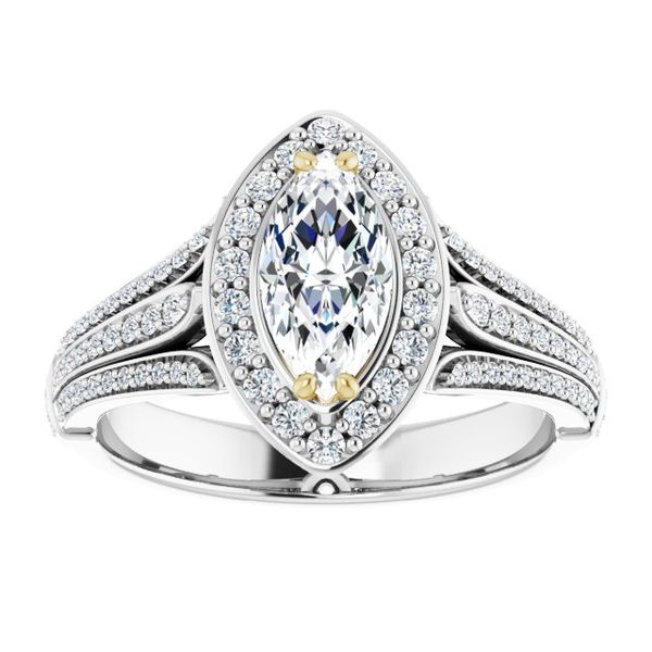 Halo-Style Engagement Ring Image 3 Swede's Jewelers East Windsor, CT