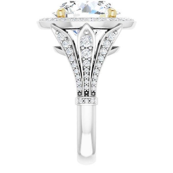 Halo-Style Engagement Ring Image 4 Swede's Jewelers East Windsor, CT
