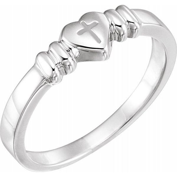 Heart with Cross Chastity Ring Jewellery Plus Summerside,