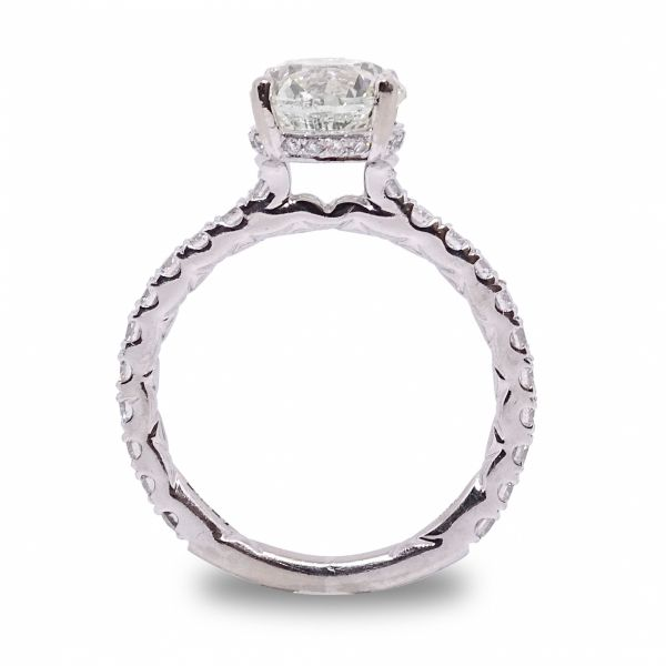 Round Cut Diamond Ring in White Gold Image 2 Grogan Jewelers Florence, AL