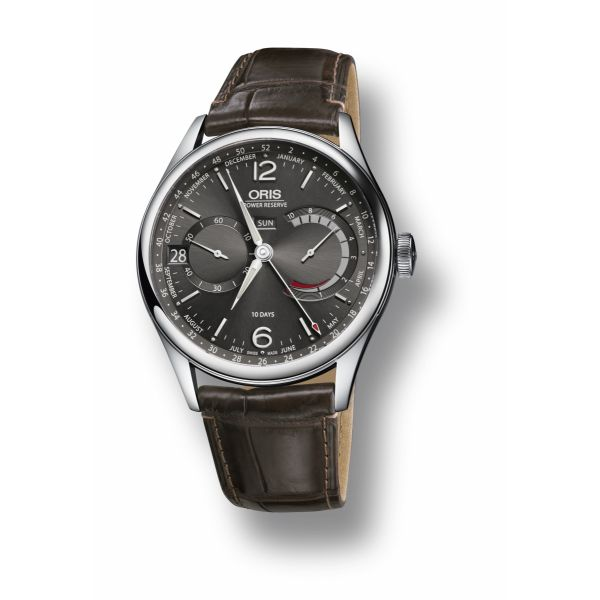 Oris Artelier Calibre 113 with Leather strap and Antracite Dial Grogan Jewelers Florence, AL