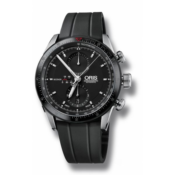 Oris Artix GT Chronograph,Rubber strap and black dial Grogan Jewelers Florence, AL