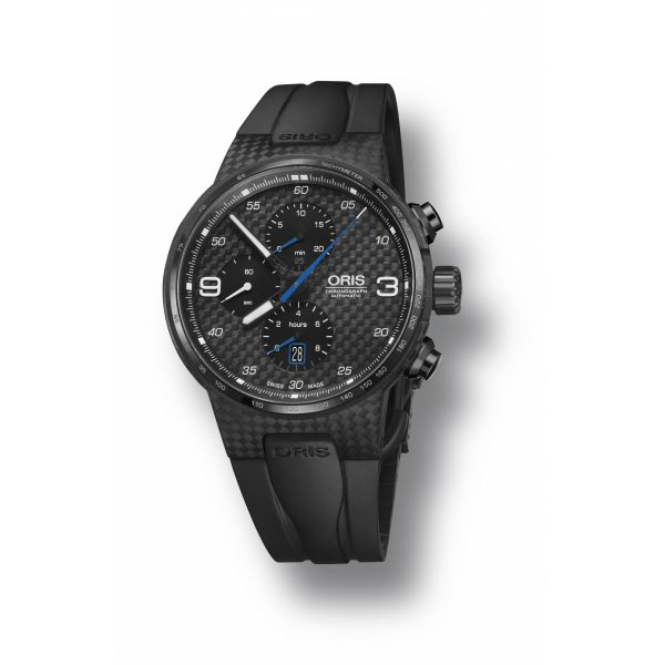 Oris Williams Valtteri Bottas Limited Edition, Carbon case, rubber strap and black dial Grogan Jewelers Florence, AL