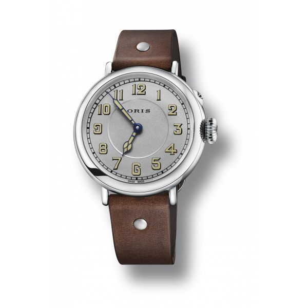 Oris Big Crown 1917 Limited Edition, Leather strap and silver dial Grogan Jewelers Florence, AL