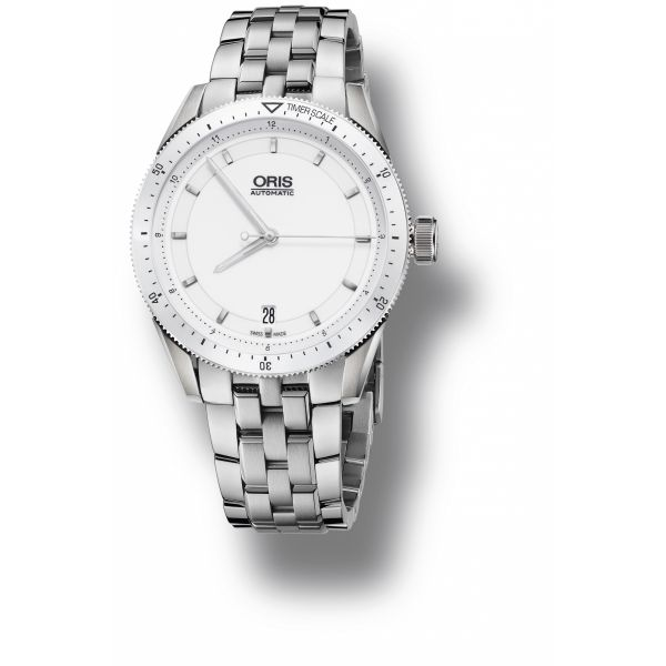 Oris Artix GT Date, Stainless steel bracelet with white dial Grogan Jewelers Florence, AL