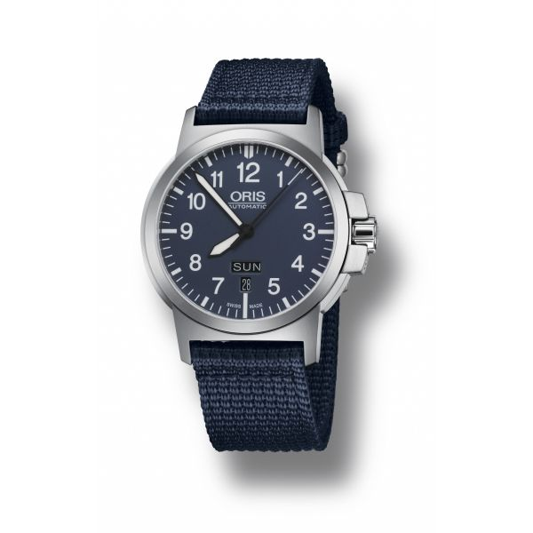 Oris BC3 Advanced, Day Date, Textile strap and blue dial Grogan Jewelers Florence, AL