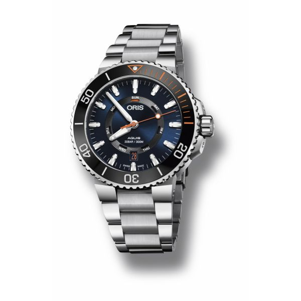 Oris Staghorn Restoration Limited Edition, Stainless steel bracelet and blue dial Grogan Jewelers Florence, AL