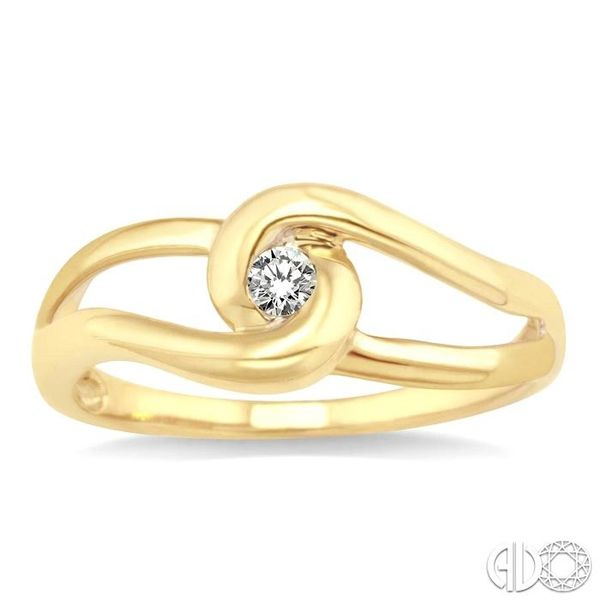 1/20 Ctw Round Cut Diamond Ring in 14K Yellow Gold Image 2 Grogan Jewelers Florence, AL