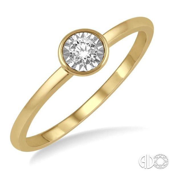 1/50 Ctw Round Cut Diamond Promise Ring in 10K Yellow Gold Grogan Jewelers Florence, AL