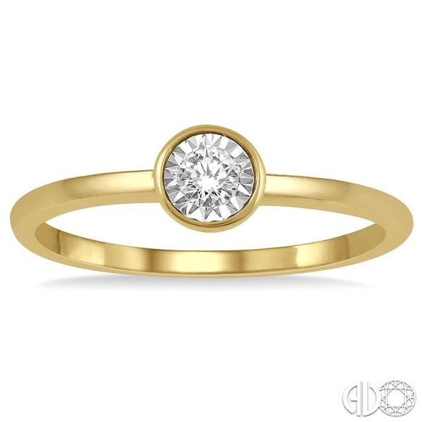 1/50 Ctw Round Cut Diamond Promise Ring in 10K Yellow Gold Image 2 Grogan Jewelers Florence, AL