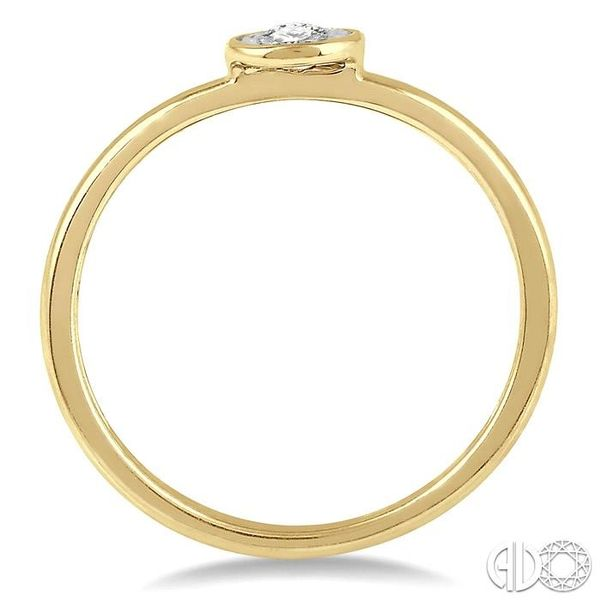 1/50 Ctw Round Cut Diamond Promise Ring in 10K Yellow Gold Image 3 Grogan Jewelers Florence, AL