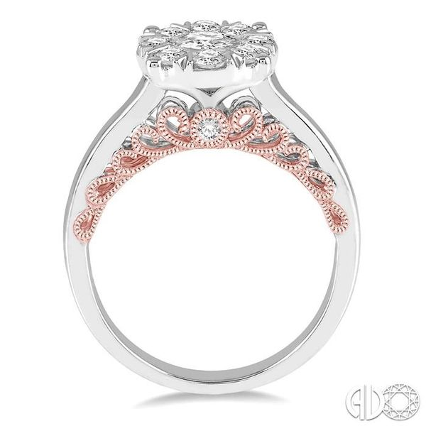 1 Ctw Round Diamond Lovebright Solitaire Style Engagement Ring in 14K White and Rose Gold Image 3 Grogan Jewelers Florence, AL