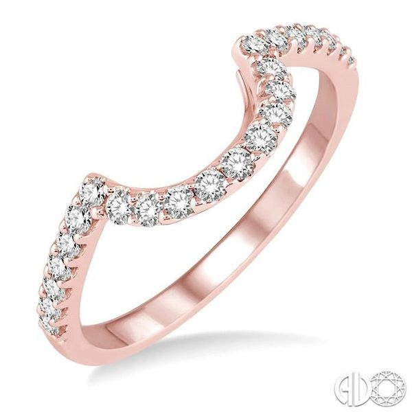 1/3 Ctw Round Cut Diamond Wedding Band in 14K Rose Gold Grogan Jewelers Florence, AL
