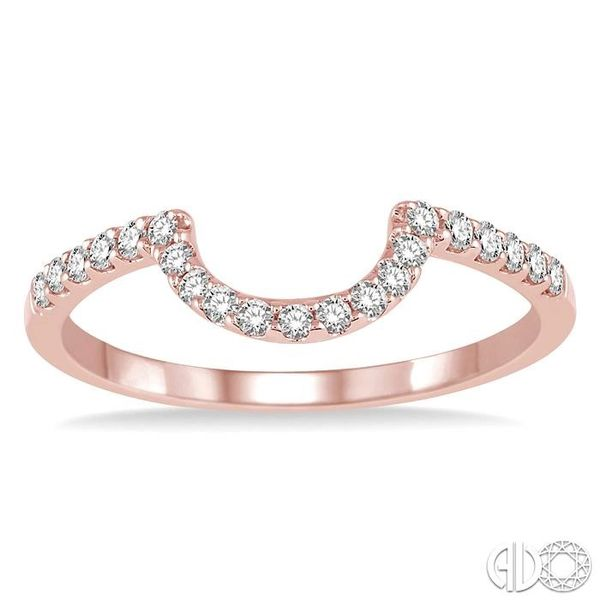 1/4 Ctw Round Cut Diamond Wedding Band in 14K Rose Gold Image 2 Grogan Jewelers Florence, AL