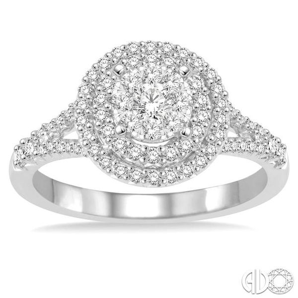 7/8 Ctw Diamond Lovebright Ring in 14K White Gold Image 2 Grogan Jewelers Florence, AL