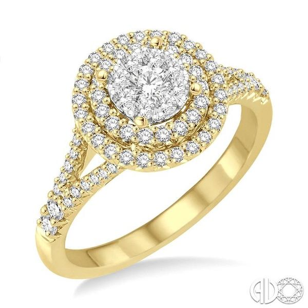 7/8 Ctw Diamond Lovebright Ring in 14K Yellow and White Gold Grogan Jewelers Florence, AL