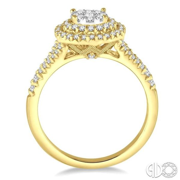 7/8 Ctw Diamond Lovebright Ring in 14K Yellow and White Gold Image 3 Grogan Jewelers Florence, AL