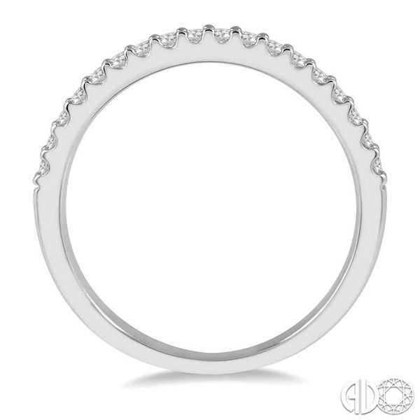 1/4 Ctw Round Cut Diamond Wedding Band in 14K White Gold Image 3 Grogan Jewelers Florence, AL