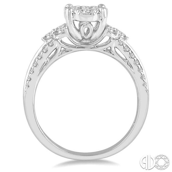 7/8 Ctw Lovebright Diamond Cluster Ring in 14K White Gold Image 3 Grogan Jewelers Florence, AL