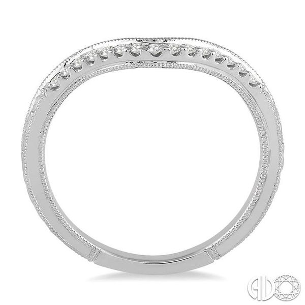 1/10 Ctw Round Cut Diamond Wedding Band in 14K White Gold Image 3 Grogan Jewelers Florence, AL