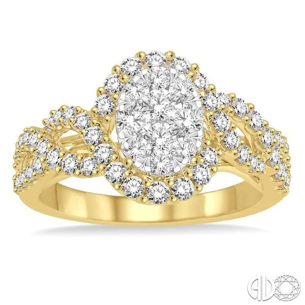 1 Ctw Diamond Lovebright Ring in 14K Yellow and White Gold Image 2 Grogan Jewelers Florence, AL