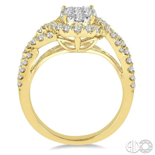 1 Ctw Diamond Lovebright Ring in 14K Yellow and White Gold Image 3 Grogan Jewelers Florence, AL