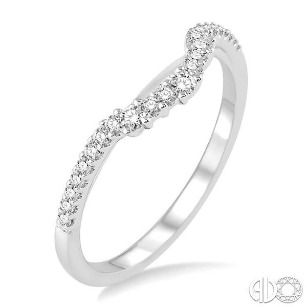 1/5 Ctw Round Cut Diamond Wedding Band in 14K White Gold Grogan Jewelers Florence, AL