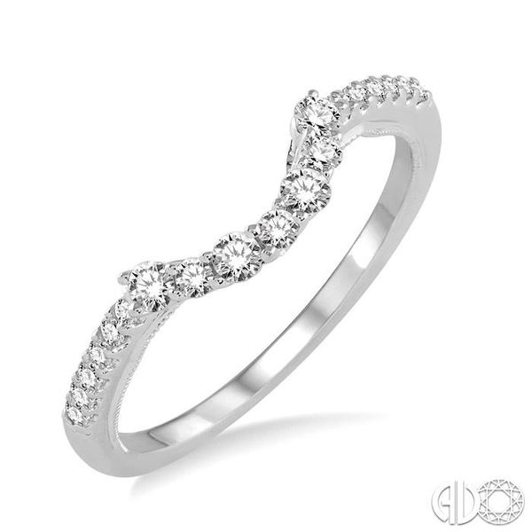 1/3 Ctw Round Cut Diamond Wedding Band in 14K White Gold Grogan Jewelers Florence, AL