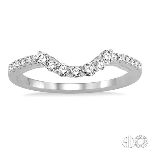 1/3 Ctw Round Cut Diamond Wedding Band in 14K White Gold Image 2 Grogan Jewelers Florence, AL
