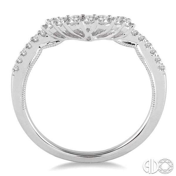 1/3 Ctw Round Cut Diamond Wedding Band in 14K White Gold Image 3 Grogan Jewelers Florence, AL