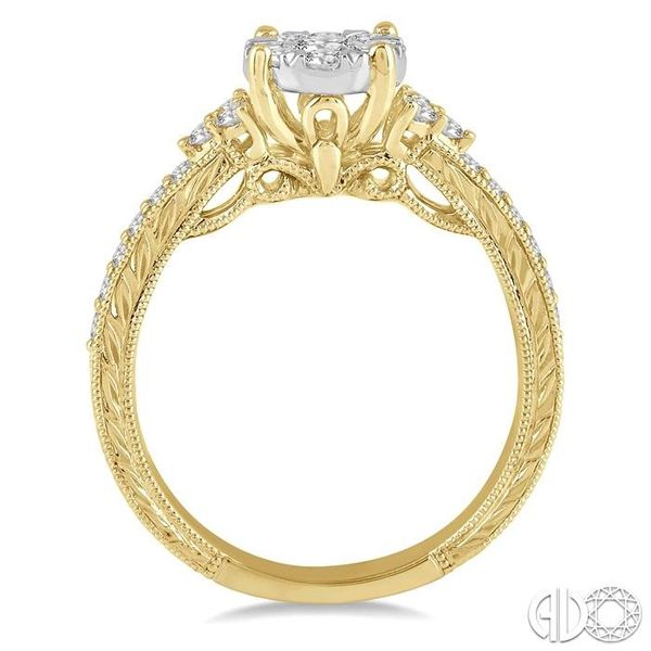 5/8 Ctw Round Shape Lovebright Diamond Cluster Ring in 14K Yellow and White Gold Image 3 Grogan Jewelers Florence, AL