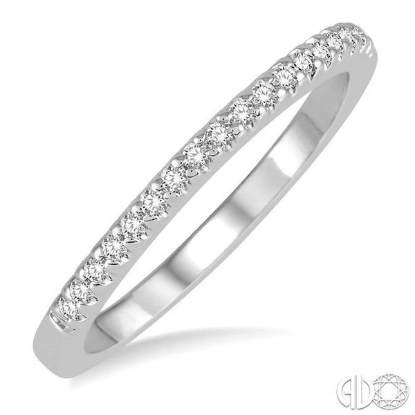 1/6 Ctw Round Cut Diamond Wedding Band in 14K White Gold Grogan Jewelers Florence, AL