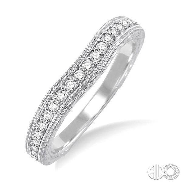 1/5 Ctw Diamond Wedding Band in 14K White Gold Grogan Jewelers Florence, AL